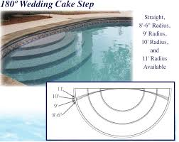 wedding cake pool steps latham polymer wedding cake step 180 degree st9001 royal