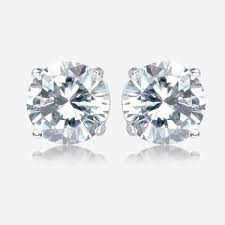 warren stud earrings cubic zirconia earrings warren jewellers