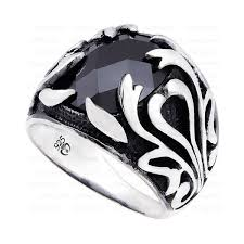 mens silver rings scorpion onyx mens ring in sterling silver from