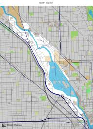 Chicago Zoning Map map of building projects properties and businesses in north