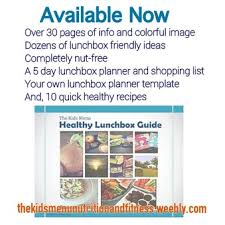 lunch box planner template nutrition health fitness blog the kids menu