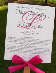 wedding ceremony program fans diy ceremony program that doubles as a fan wedding ceremony diy