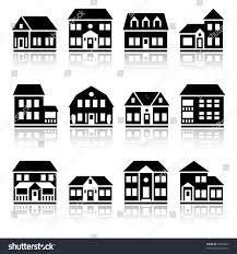 mansion clipart black and white twelve house silhouettes stock vector 18587807 shutterstock