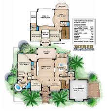 Color Floor Plan Tuscan House Plans Luxury Home Plans Old World Mediterranean Style