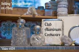 selling vintage items on ebay club aluminum cookware youtube