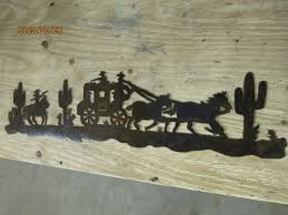 stage coach wall art western rustic cabin home decor horse rodeo