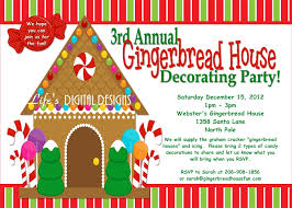 design house decor etsy gingerbread house decorating party invitations red and green