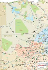 In And Out Map Botswana Map Caravanparks Com Maps Caravan Parks Holiday Resorts