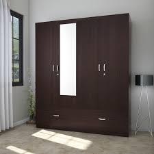 Wooden Wardrobe Price In Bangalore Hometown Utsav Engineered Wood 4 Door Wardrobe Price In India