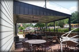 Awning Roofing Standing Seam Awnings U0026 Corrugated Aluminum Canopies