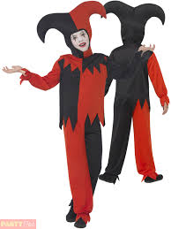 Halloween Costumes Jester Child Twisted Jester Costume Boys Girls Circus Fancy Dress Kids