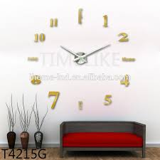 big 3d diy dubai wall clock with sticker home decoration items for