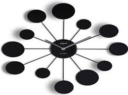 wonderful black wall clocks modern 146 large modern black wall