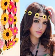 festival flower headbands 2018 multi color bohemian flower headband festival wedding floral