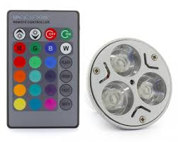 color changing light bulb with remote 3 x 1w led 16 colour changing light bulb with remote controller