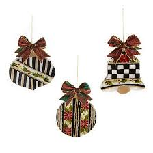 mackenzie childs cut out ornaments set of 3