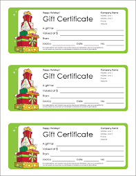 download the christmas gift certificate from vertex42 com it