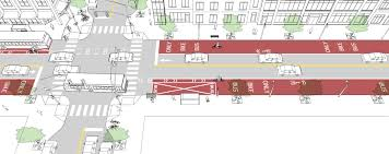 Bus Terminal Floor Plan Design In Lane Sidewalk Stop National Association Of City