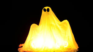 how to make your own ghost for halloween creepy youtube