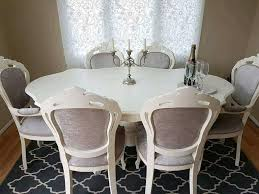 stunning italian shabby chic dining table and 6 chairs in