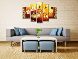 5 panels golden bottle elegant flowers modern 100 hand painted hand painted gallery wrapped floral oil paintings on canvas wall art hand painted oil paintings on canvas oil painting flowers oil paintings for home