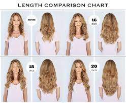 20 inch hair extensions chart of the different lengths of clip in hair extensions 16