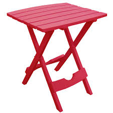 Folding Patio Side Table Quik Fold Cherry Patio End Table