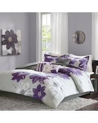 Madison Park Duvet Sets On Sale Now 50 Off Madison Park Freya 7 Piece Comforter Set Purple