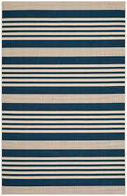 Striped Indoor Outdoor Rugs by Navy Blue Stripe Indoor Outdoor Rug Safavieh Com