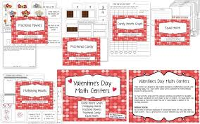 valentine u0027s day math pack graphing fractions multiplication