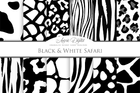 black and white animal prints textures creative market
