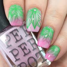 hothouse summer floral with pepper pot polish and stamping u2013 phd