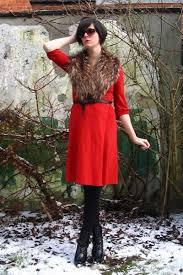 red dresses brown scarves black boots black belts black