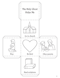 The Holy Ghost Helps Me Coloring Page lesson 6 the holy ghost helps me
