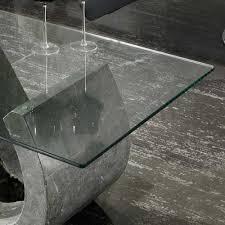 Wohnzimmertisch Transparent Couchtisch Varagosta Aus Stein Und Glas S Förmig Wohnen De