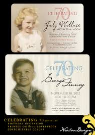 Invitation Cards For Dedication Of A Baby Stunning 70th Birthday Party Invitations For You Theruntime Com