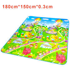 Kids City Rug by Infant Children Games Playing Blanket For Kids Baby Floor Mat