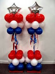 love these patriotic balloon columns 4th of july pinterest