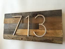 reclaimed wood address plaque decor custom personalized house
