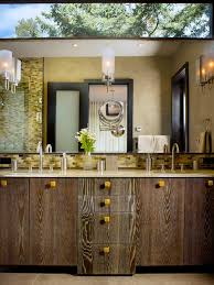 Bathroom Vanity With Makeup Table by Chic Drawer Pulls And Knobs In Bathroom Contemporary With Double