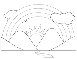preschool coloring pages of rainbows kids coloring