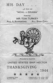 uss hector ar 7 navy repair ship thanksgiving menu 1944