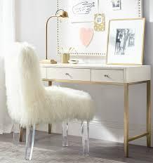 lovely white fur desk chair for your home office decor wonderful white fur desk chair