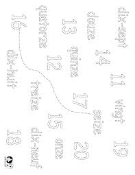 worksheets french numbers