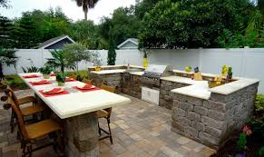 Outdoor Kitchen Granite Countertops Tumbled Keystone Stonegate Wall Block Outdoor Kitchen Shell With