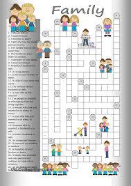 crossword family english language pinterest crossword