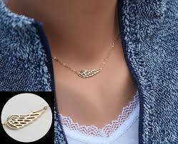 gold wings necklace images Angel wing necklace gold wing delicate necklace memory wing jpg