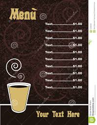 menu template vector royalty free stock images image 12396369
