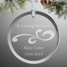 personalized glass memorial ornament loving memory