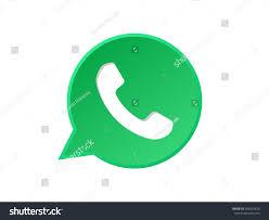 bubble phone icon call button receiver stock vector 582952420